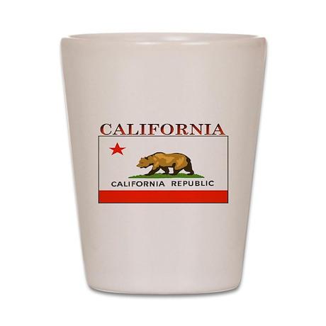 California State Flag Shot Glass