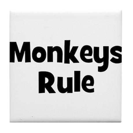 Monkeys Rule Tile Coaster