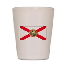 Florida Sunshine State Flag Shot Glass