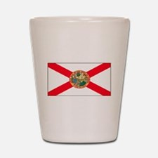 Florida Sunshine State Flag Shot Glass