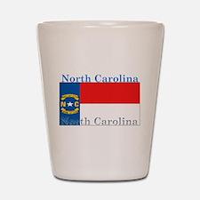 North Carolina State Flag Shot Glass