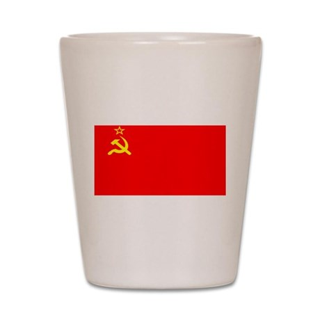 USSR Blank Flag Shot Glass
