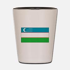 Uzbekistan Blank Flag Shot Glass