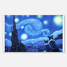 Starry Night Border Collies Decal