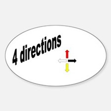 4 directions Oval Decal