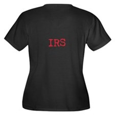 IRS IS ON MY BACK Women's Plus Size V-Neck Dark T-