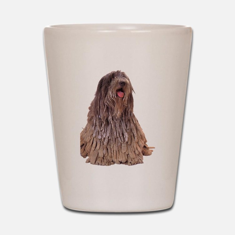Bergamasco Sheepdog Sitting Shot Glass