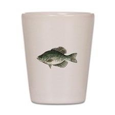 Black Crappie Fish Shot Glass