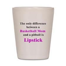 Basketball Mom Pitbull Palin Shot Glass