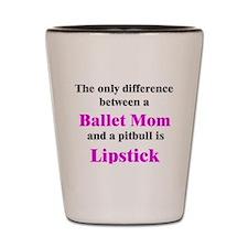 Ballet Mom Pitbull Lipstick Shot Glass