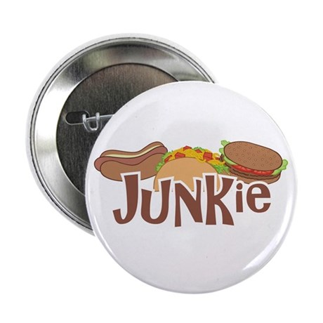 """Fast Food Junkie 2.25"""" Button (100 pack)"""