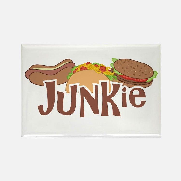 Fast Food Junkie Rectangle Magnet