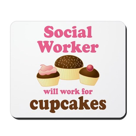 Funny Social Worker Mousepad