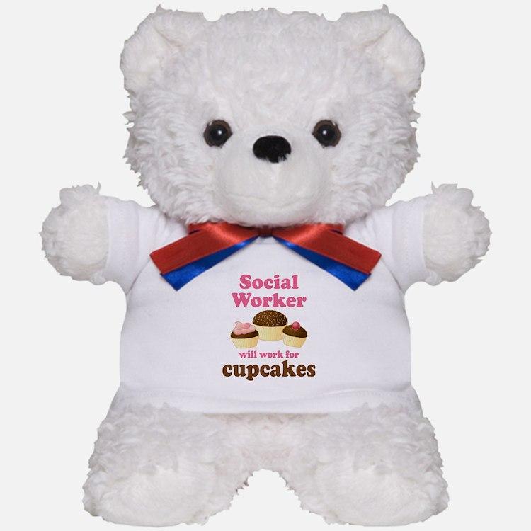 Funny Social Worker Teddy Bear