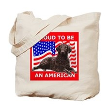 Curly Coat with flag Tote Bag