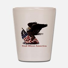 God Bless America Eagle Shot Glass