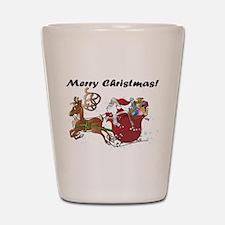 Merry Christmas Santa Shot Glass
