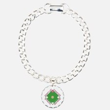 Don't Let Cancer Steal 2nd Base Charm Bracelet, On