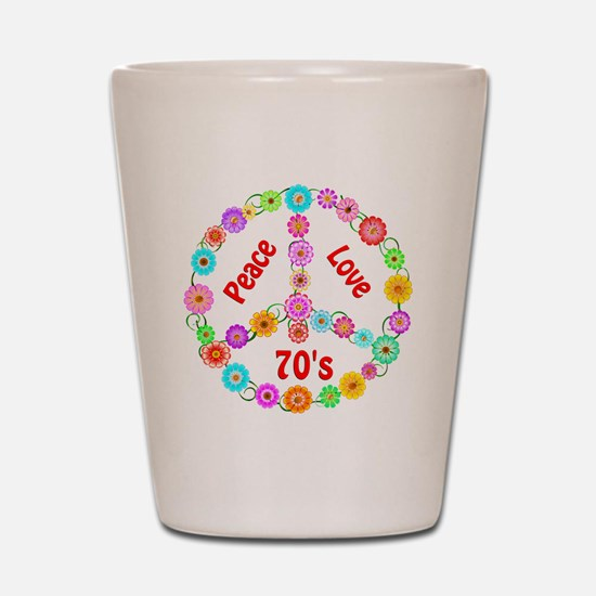 70s Peace Sign Shot Glass