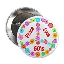 """60s Peace Sign 2.25"""" Button"""