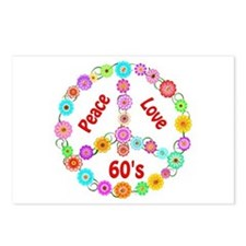 60s Peace Sign Postcards (Package of 8)