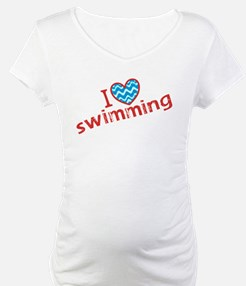 I heart (love) Swimming Shirt