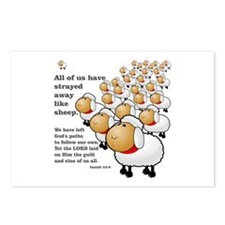 Strayed away like sheep Postcards (Package of 8)