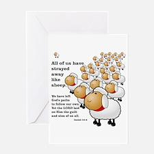 Strayed away like sheep Greeting Card