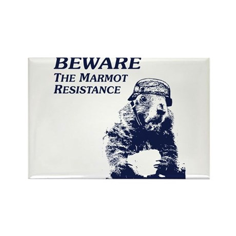 Save The Marmots Rectangle Magnet