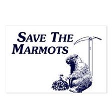 Save The Marmots Postcards (Package of 8)