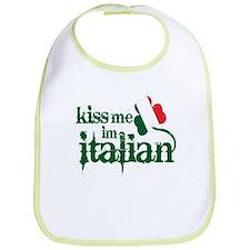 Kiss Me I'm Italian - Bib