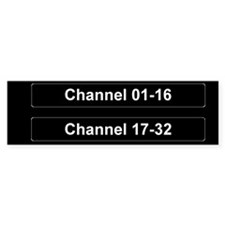 Channel 01 -32 Sticker (Bumper)