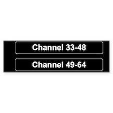 Channel 33-64 Sticker (Bumper)