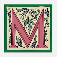 """Garden """"M"""" in Mauve Tile Coaster"""