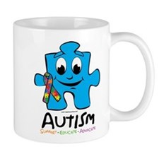Autism Cartoon Puzzle Piece Mug