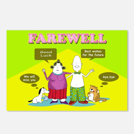 Farewell, the gang, Postcards (Package of 8)