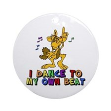 Dancing Cat Ornament (Round)