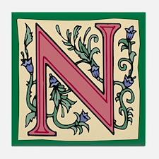 """Garden """"N"""" in Mauve Tile Coaster"""