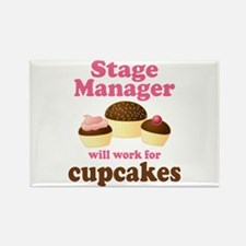 Funny Stage Manager Rectangle Magnet