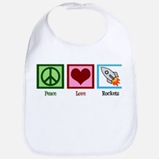 Peace Love Rockets Bib
