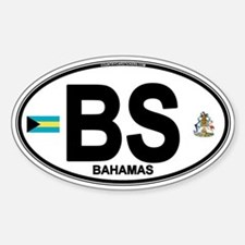 Bahamas Euro Oval Sticker (Oval)