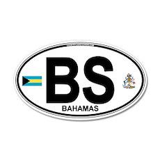 Bahamas Euro Oval 22x14 Oval Wall Peel