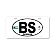 Bahamas Euro Oval Aluminum License Plate