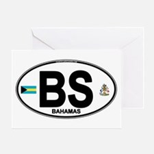 Bahamas Euro Oval Greeting Card