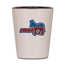 Smartass Democrat -- Shot Glass