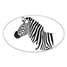 Zebra Oval Stickers
