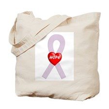 Orchid Hope Heart Tote Bag