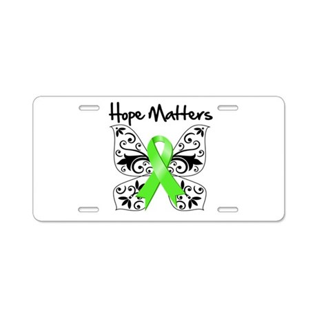 Hope Matters Lymphoma Aluminum License Plate