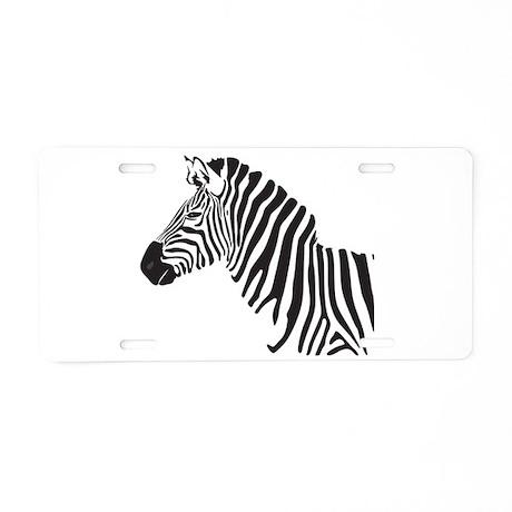 Aluminum Zebra License Plate