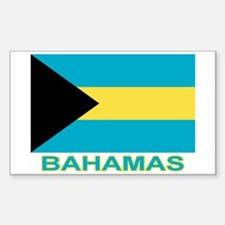 Bahamian Flag (labeled) Decal